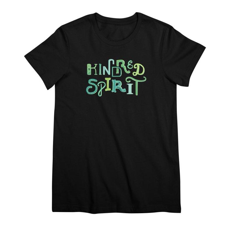 Kindred Spirit (Green) Women's Premium T-Shirt by BumbleBess