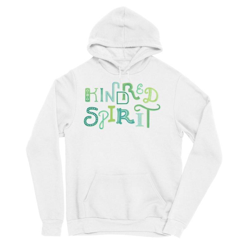 Kindred Spirit (Green) Men's Sponge Fleece Pullover Hoody by BumbleBess