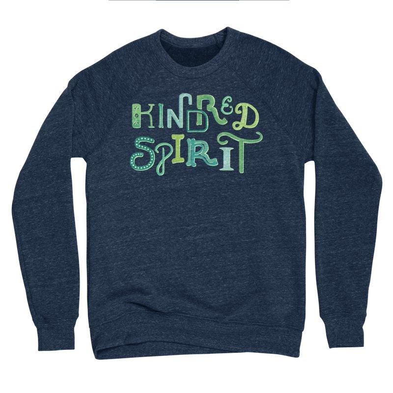 Kindred Spirit (Green) Men's Sponge Fleece Sweatshirt by BumbleBess