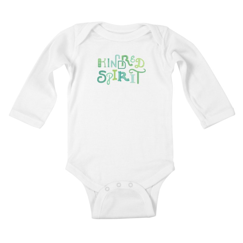 Kindred Spirit (Green) Kids Baby Longsleeve Bodysuit by BumbleBess