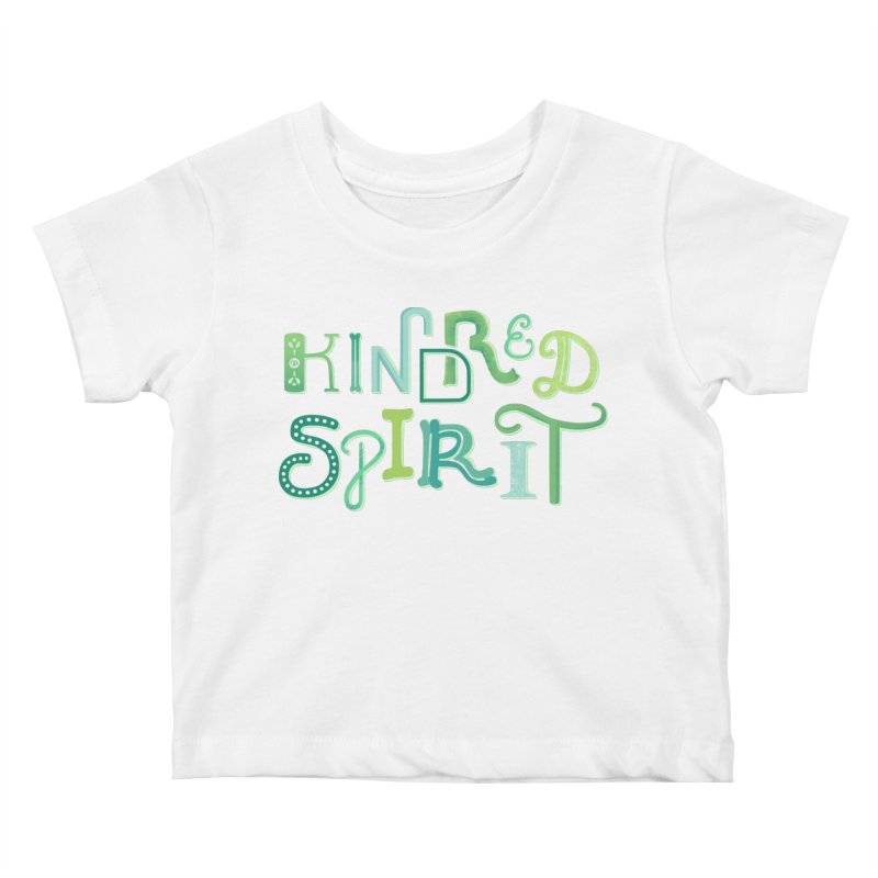 Kindred Spirit (Green) Kids Baby T-Shirt by BumbleBess