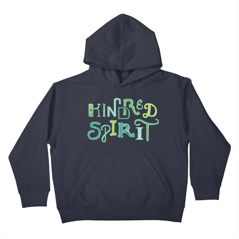 Kindred Spirit (Green) Kids Pullover Hoody by BumbleBess