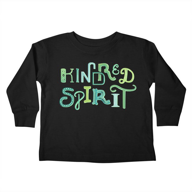 Kindred Spirit (Green) Kids Toddler Longsleeve T-Shirt by BumbleBess