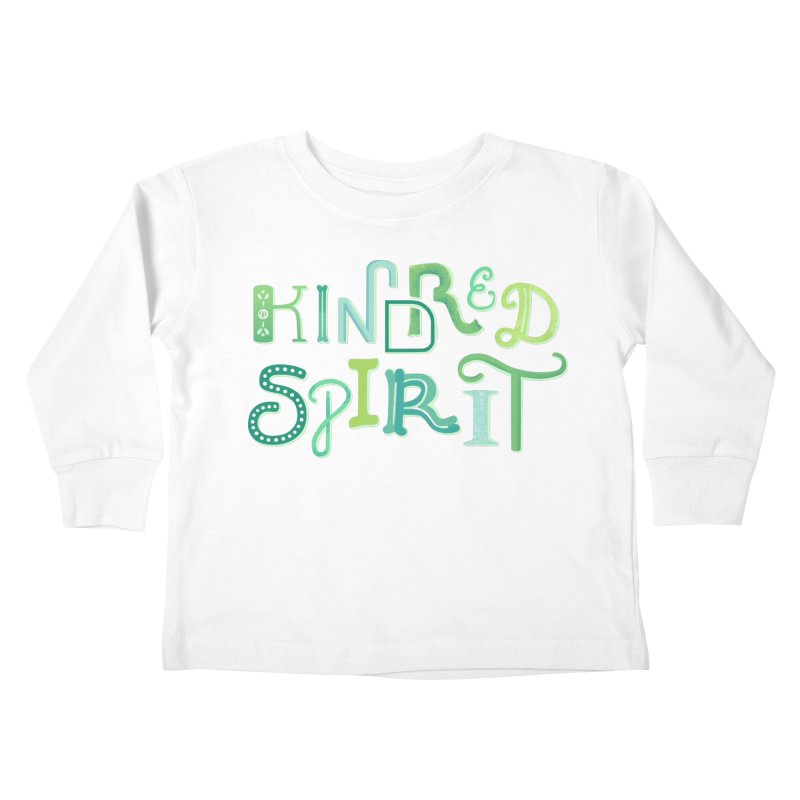 Kindred Spirit (Green) Kids Toddler Longsleeve T-Shirt by BumbleBess