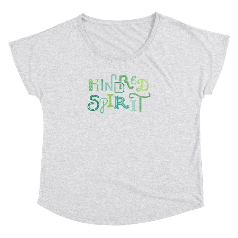 Kindred Spirit (Green) Women's Dolman Scoop Neck by BumbleBess