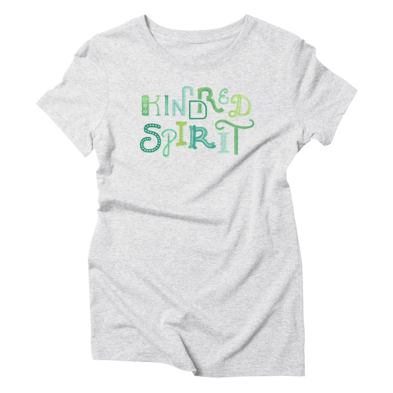Kindred Spirit (Green) Women's Triblend T-Shirt by BumbleBess