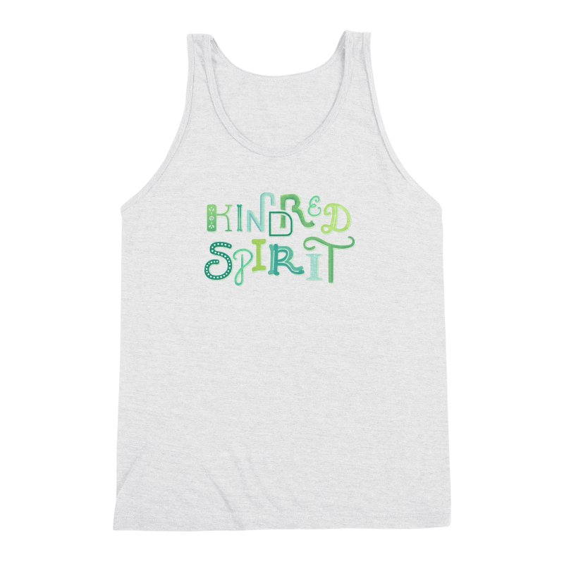 Kindred Spirit (Green) Men's Triblend Tank by BumbleBess