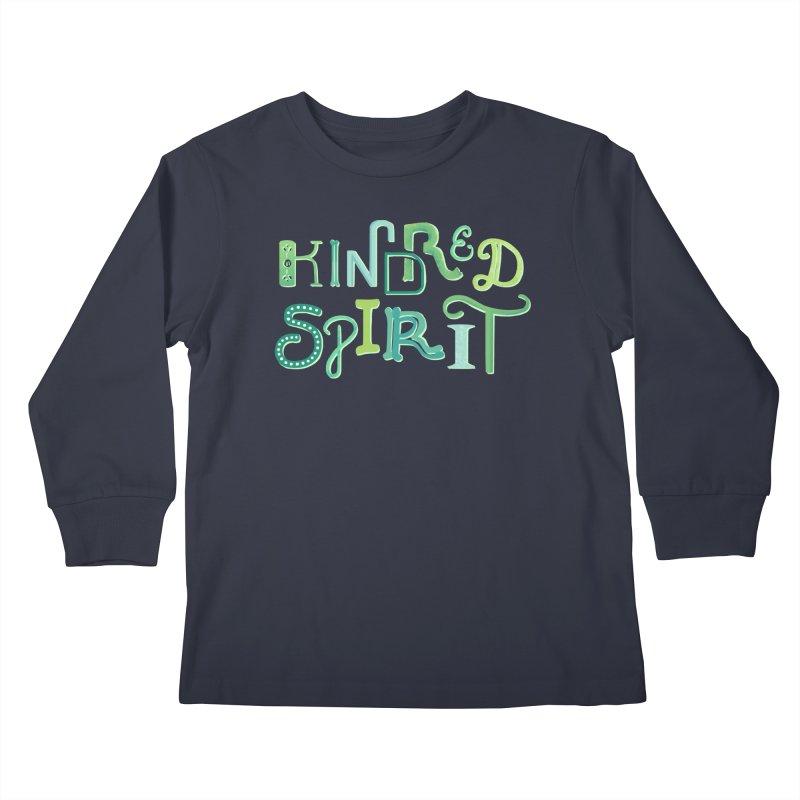 Kindred Spirit (Green) Kids Longsleeve T-Shirt by BumbleBess