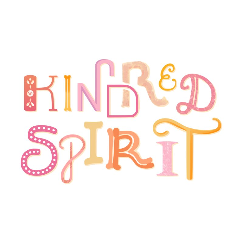Kindred Spirit (Pink) Kids Longsleeve T-Shirt by BumbleBess