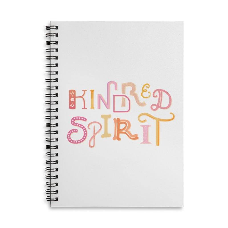 Kindred Spirit (Pink) Accessories Lined Spiral Notebook by BumbleBess