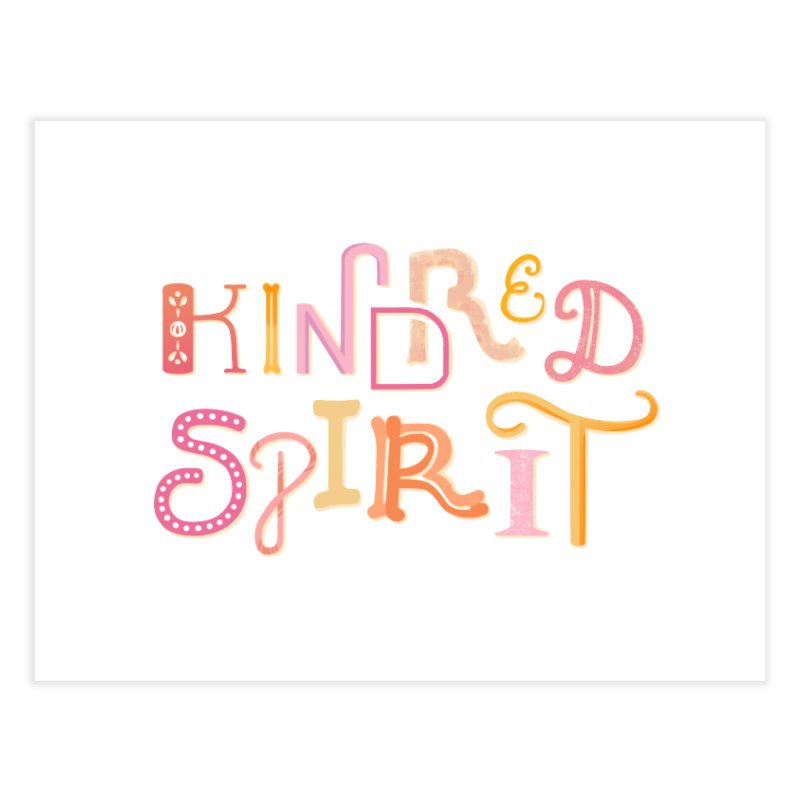 Kindred Spirit (Pink) Home Fine Art Print by BumbleBess