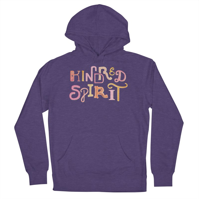 Kindred Spirit (Pink) Men's French Terry Pullover Hoody by BumbleBess