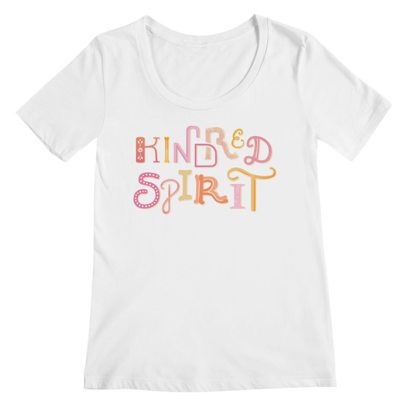 Kindred Spirit (Pink) Women's Regular Scoop Neck by BumbleBess