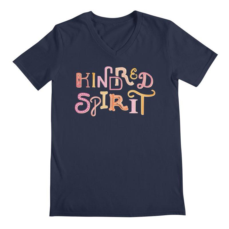 Kindred Spirit (Pink) Men's Regular V-Neck by BumbleBess