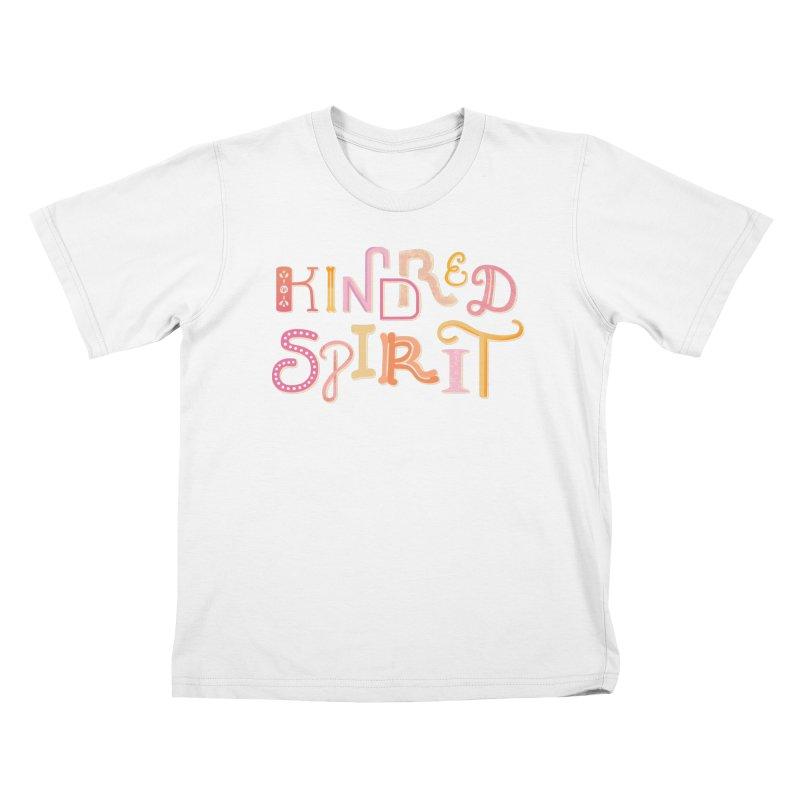 Kindred Spirit (Pink) Kids T-Shirt by BumbleBess