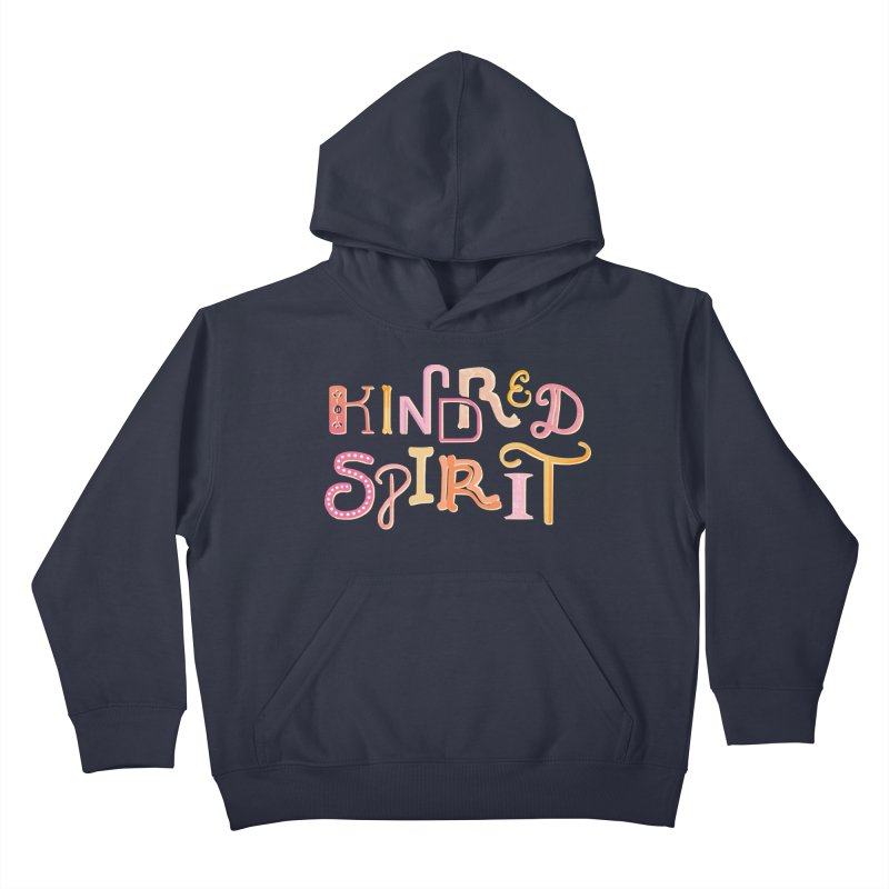 Kindred Spirit (Pink) Kids Pullover Hoody by BumbleBess