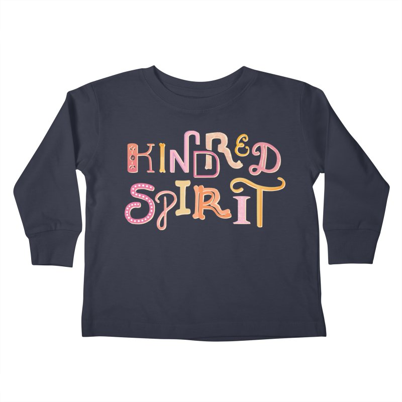 Kindred Spirit (Pink) Kids Toddler Longsleeve T-Shirt by BumbleBess