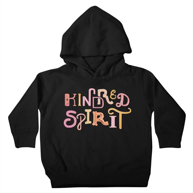 Kindred Spirit (Pink) Kids Toddler Pullover Hoody by BumbleBess