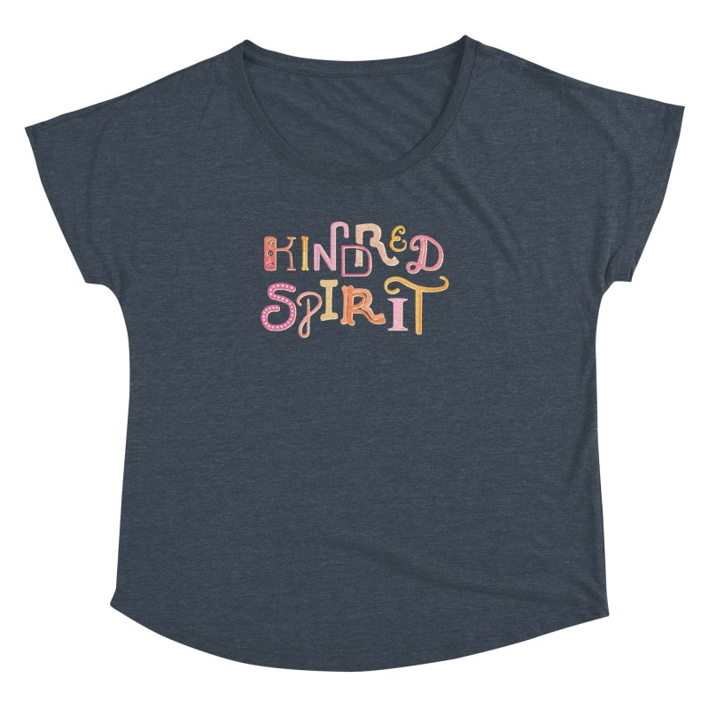 Kindred Spirit (Pink) Women's Dolman Scoop Neck by BumbleBess