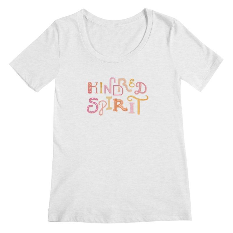 Kindred Spirit (Pink) Women's Regular Scoop Neck by BumbleBess