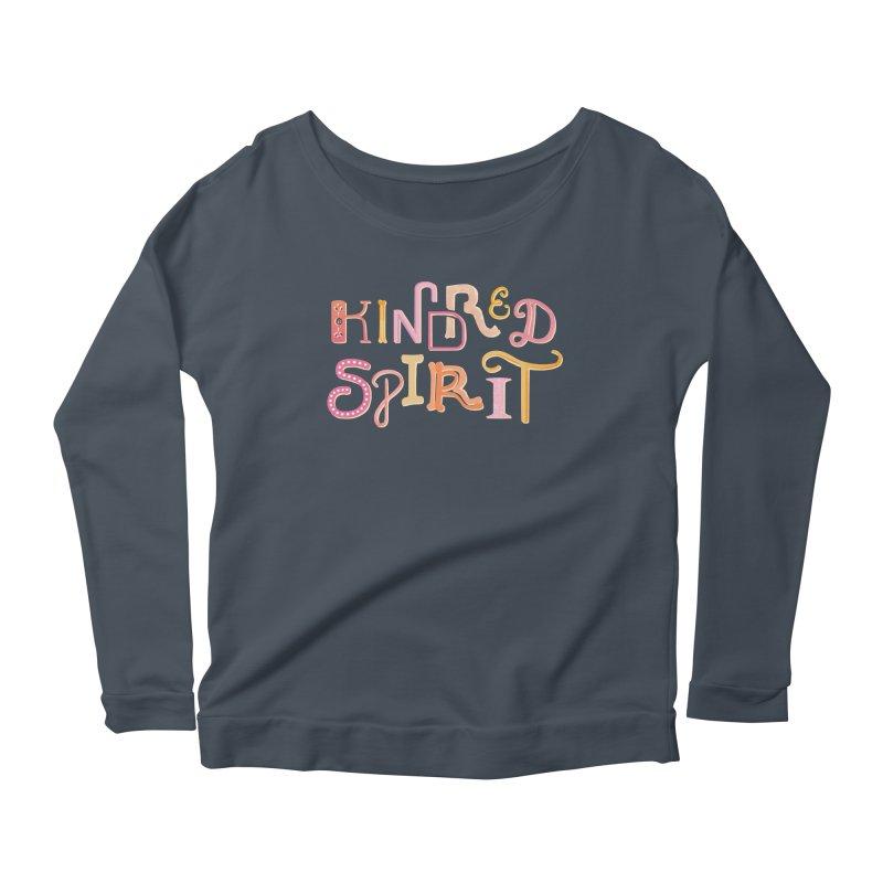 Kindred Spirit (Pink) Women's Scoop Neck Longsleeve T-Shirt by BumbleBess