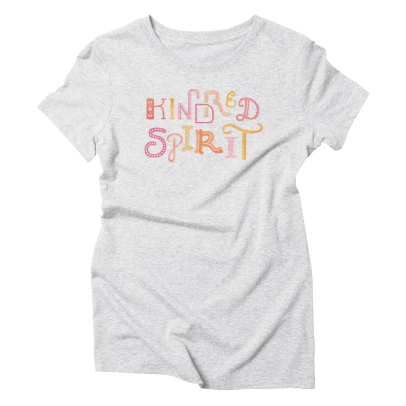 Kindred Spirit (Pink) Women's Triblend T-Shirt by BumbleBess