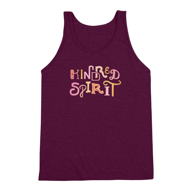 Kindred Spirit (Pink) Men's Triblend Tank by BumbleBess