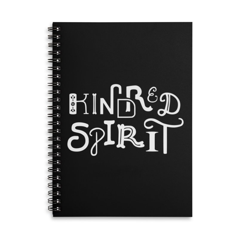Kindred Spirit Accessories Lined Spiral Notebook by BumbleBess