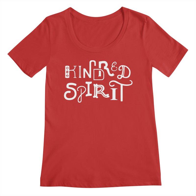 Kindred Spirit Women's Regular Scoop Neck by BumbleBess
