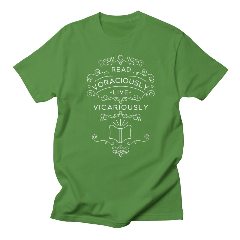 Read Voraciously, Live Vicariously Men's Regular T-Shirt by BumbleBess