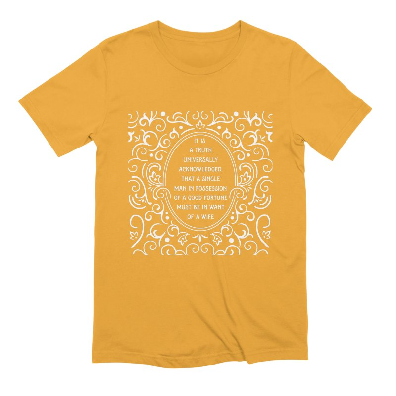 A Truth Universally Acknowledged Men's Extra Soft T-Shirt by BumbleBess