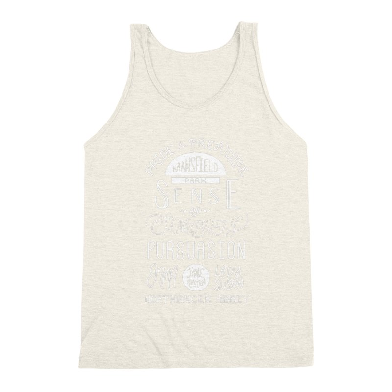 By a Lady Men's Triblend Tank by BumbleBess