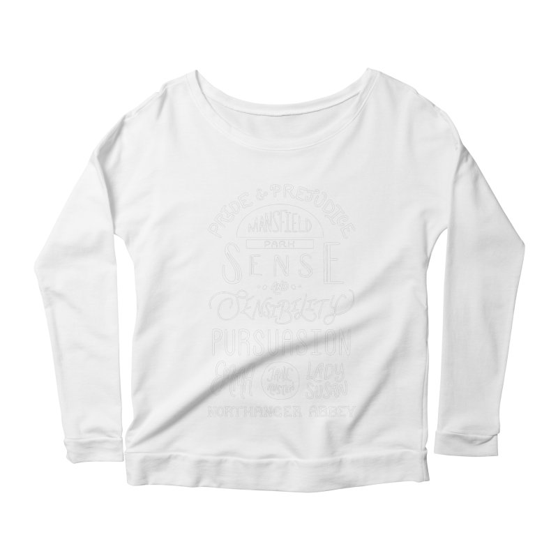 By a Lady Women's Scoop Neck Longsleeve T-Shirt by BumbleBess