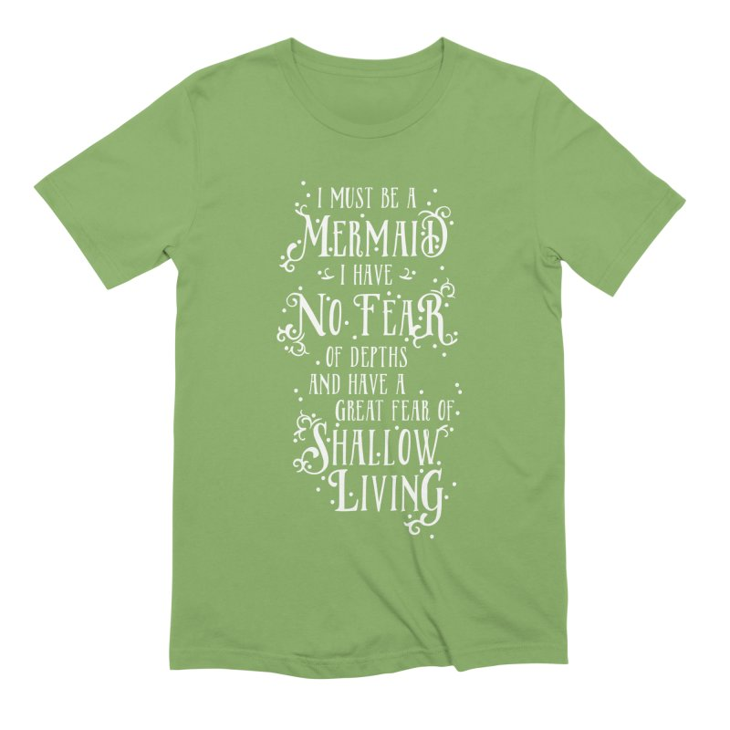 I Must Be a Mermaid Men's Extra Soft T-Shirt by BumbleBess