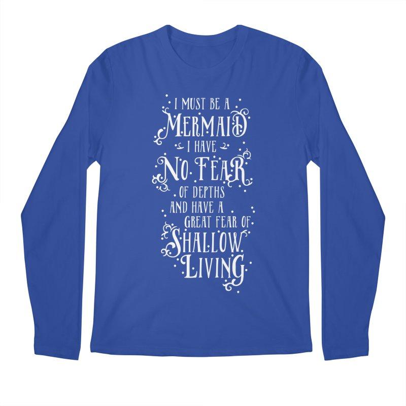 I Must Be a Mermaid Men's Regular Longsleeve T-Shirt by BumbleBess