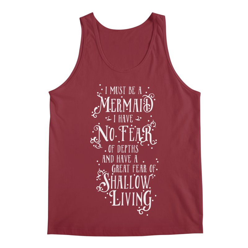 I Must Be a Mermaid Men's Regular Tank by BumbleBess