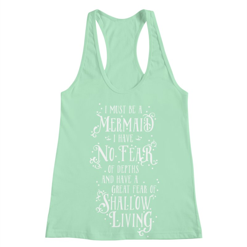 I Must Be a Mermaid Women's Racerback Tank by BumbleBess