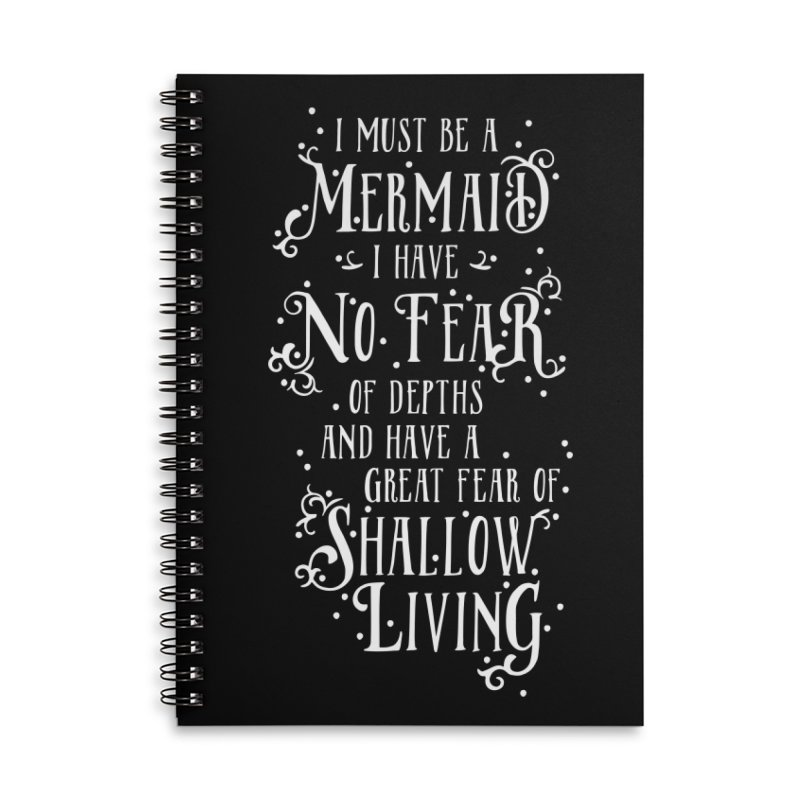 I Must Be a Mermaid Accessories Lined Spiral Notebook by BumbleBess
