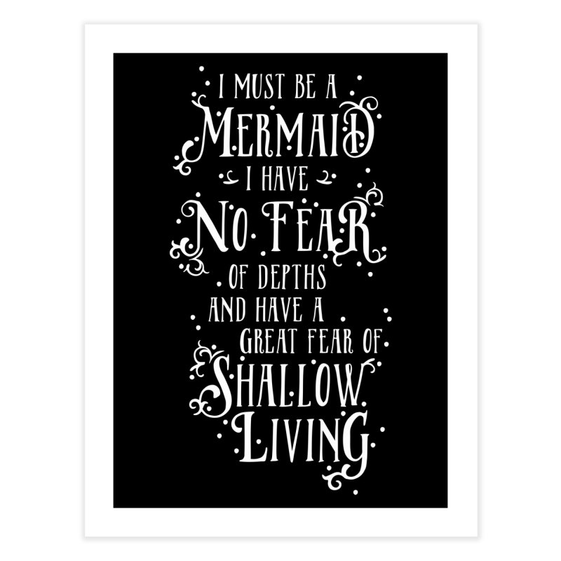 I Must Be a Mermaid Home Fine Art Print by BumbleBess