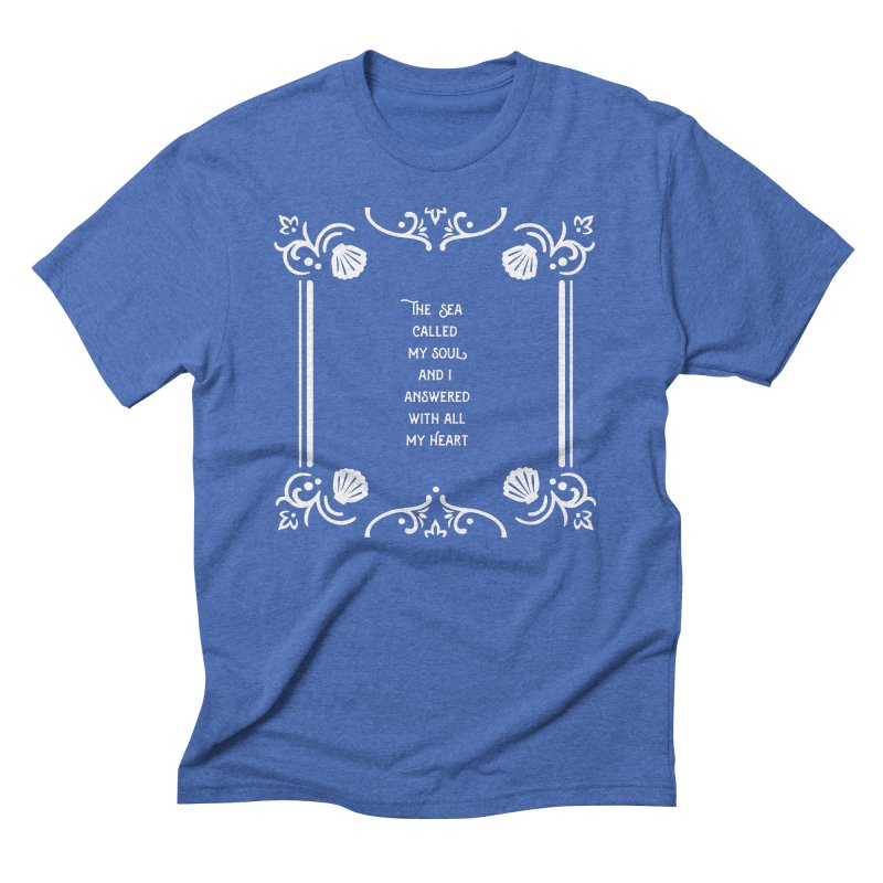 The Sea Called Men's Triblend T-Shirt by BumbleBess