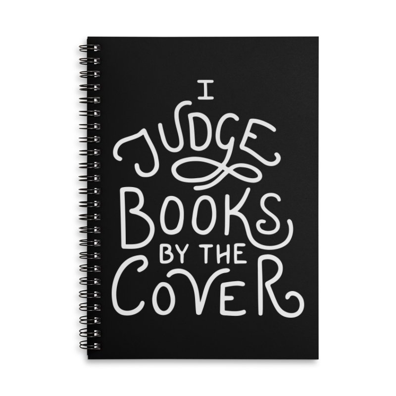 I Judge Books Accessories Lined Spiral Notebook by BumbleBess