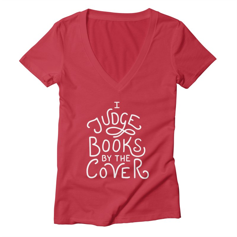 I Judge Books Women's Deep V-Neck V-Neck by BumbleBess