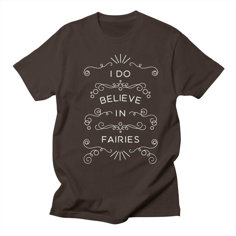 I Do Believe in Fairies Men's Regular T-Shirt by BumbleBess