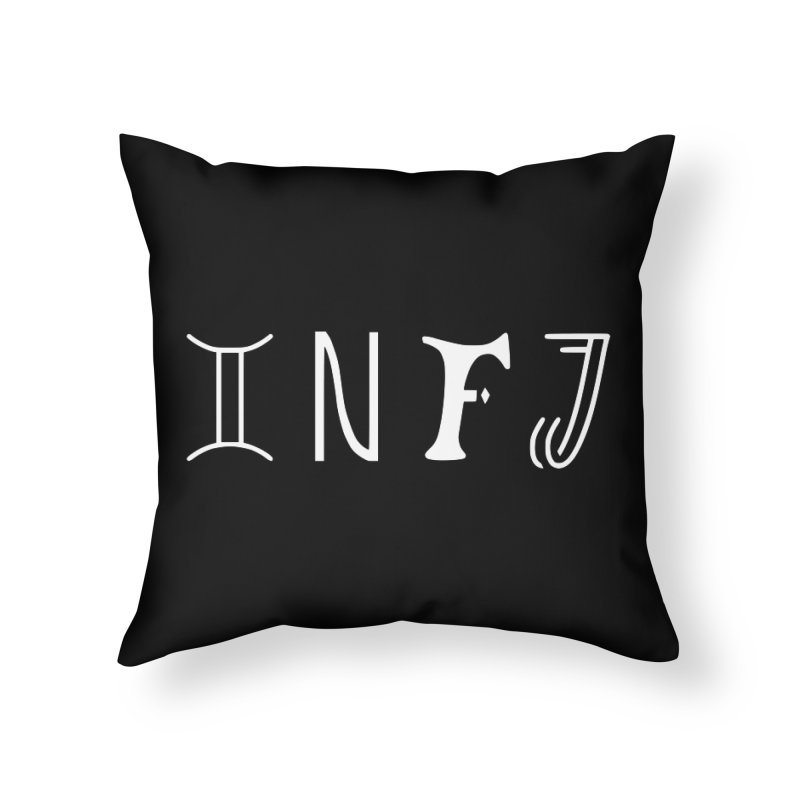 INFJ Home Throw Pillow by BumbleBess