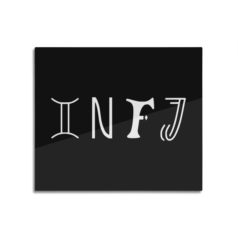 INFJ Home Mounted Aluminum Print by BumbleBess