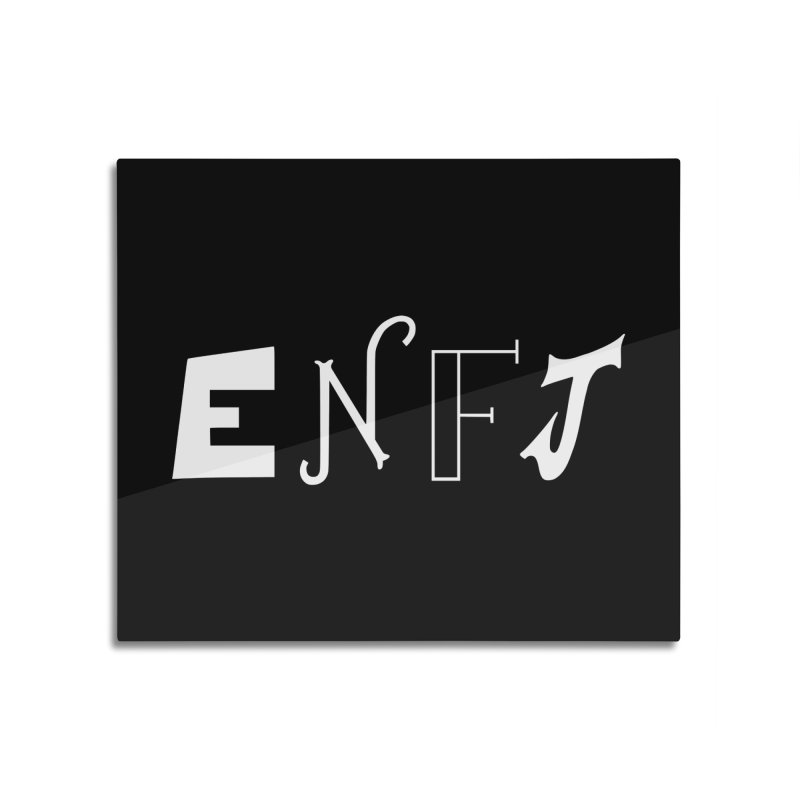 ENFJ Home Mounted Aluminum Print by BumbleBess
