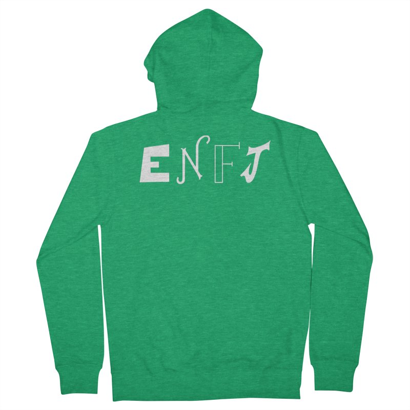 ENFJ Men's Zip-Up Hoody by BumbleBess