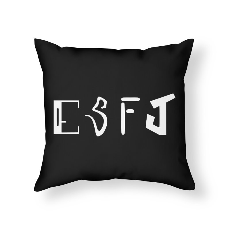 ESFJ Home Throw Pillow by BumbleBess