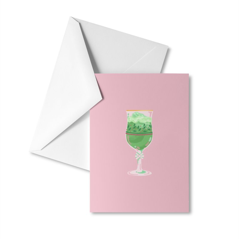 Holly Stemware (goblet variation) Accessories Greeting Card by BumbleBess