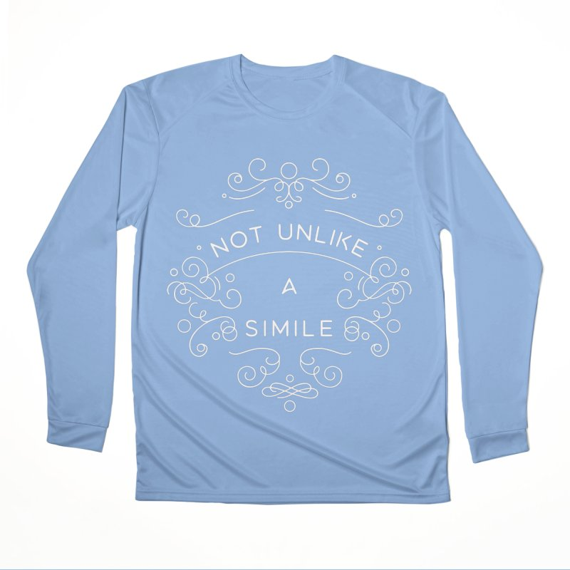 Not Unlike a Simile Men's Longsleeve T-Shirt by BumbleBess